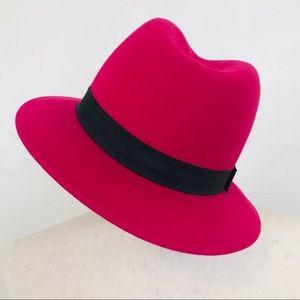 Express Fedora Hat Magenta Fuchsia Pink Sexy Cool